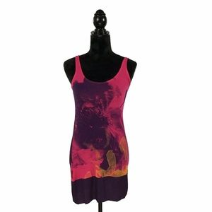 EXPRESS Dreamweight Sleeveless Pink & Purple Dress